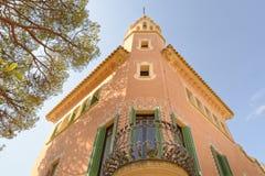 Dom Antoni Gaudi i muzeum w Parkowym Guell Obraz Stock