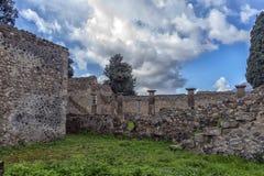 Dom antyczne rzymianin ruiny, część UNESCO światowego dziedzictwa miejsca Ja lokalizuje blisko Naples Fotografia Royalty Free
