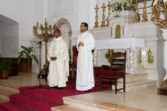 Dom Arlindo Furtado (left), First cardinal of Cape Verde Stock Photos