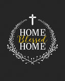 Dom Błogosławiący Do domu znak Obrazy Stock