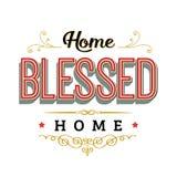 Dom Błogosławiący Do domu znak Zdjęcia Stock