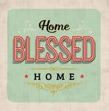 Dom Błogosławiący Domowy rocznik typografii znak Obraz Stock