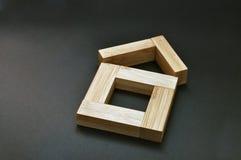 Dom bambusowi kije Obrazy Stock