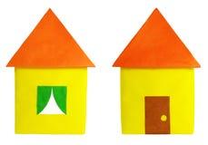 Dom barwiony papier Zdjęcie Royalty Free