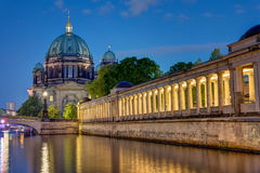The Dom in Berlin at night Royalty Free Stock Image
