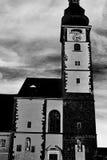 Dom bij St Pölten in zwart-wit Royalty-vrije Stock Afbeelding