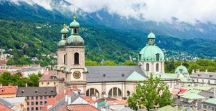 Dom in the center of Innsbruck, Austria royalty free stock image