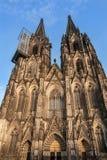 Dom Church Berühmter internationaler Grenzstein in Deutschland Welterbe - eine katholische gotische Kathedrale Stockfotos