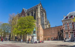 Dom church at the central square in Utrecht Royalty Free Stock Photography