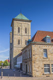 Dom church on a cobblestoned street in Osnabruck Royalty Free Stock Photography