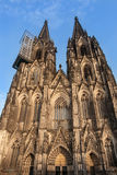 Dom church. Cologne Cathedral. World Heritage - a Catholic Gothic cathedral Stock Photos