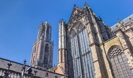 Dom church and tower in the historic center of Utrecht. Netherlands Royalty Free Stock Images
