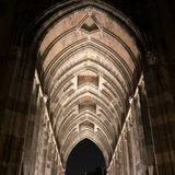 Dom church tower tunnel by night in Utrecht, Netherlands Stock Photos