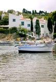 Dom Dal port Lligat Hiszpania zdjęcia royalty free