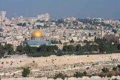 Dom de oro en Jerusalén. Foto de archivo libre de regalías
