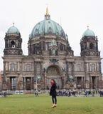 DOM del berlinese - la più grande chiesa protestante in Germania Fotografia Stock
