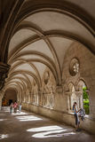 Dom Dinis cloister in Alcobaca Royalty Free Stock Photo