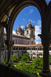 Dom Dinis cloister in Alcobaca Royalty Free Stock Image