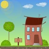 Dom dla sprzedaży. Zdjęcia Stock