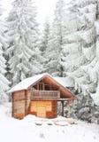 Dom dla zima wakacji Fotografia Royalty Free