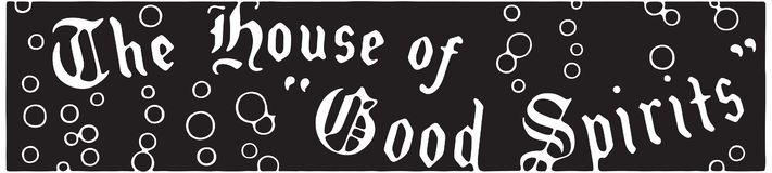 Dom dobrzy duchy royalty ilustracja