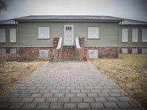 Dom dokąd nazistowscy żołnierze żyli zdjęcie stock