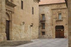 Dom Don Diego Maldonado i kościół San Benito, Salamanca, Obrazy Royalty Free
