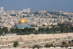 DOM dorati a Gerusalemme. Fotografia Stock Libera da Diritti