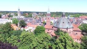 Dom en Nordhorn almacen de metraje de vídeo