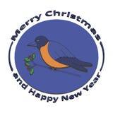 Dom-fafe da imagem no Natal e no ano novo ilustração do vetor