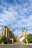 Dom hill of Erfurt Germany Royalty Free Stock Image