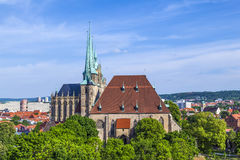 Dom hill of Erfurt Germany Royalty Free Stock Photo