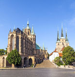 Dom hill of Erfurt in Thuringia, Germany Stock Photography