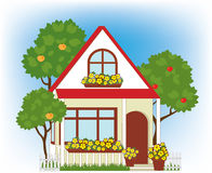 Dom i ogród ilustracji
