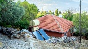 Dom i panel słoneczny w Turcja zdjęcie royalty free