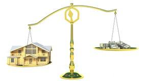 Dom i spienięża dalej waży royalty ilustracja