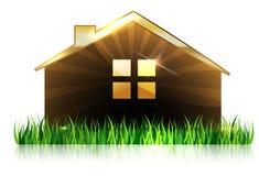 Dom i trawa przy przodem ilustracji