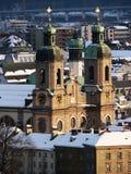 Dom im de Winter, Innsbruck Royalty-vrije Stock Afbeelding