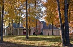 dom jesienią Obrazy Royalty Free