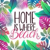 Dom Jest Dokąd plaża Jest royalty ilustracja