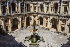 Dom Joao III Cloister (Renaissance masterpiece) in the Templar Convent of Christ in Tomar Stock Photo
