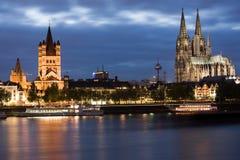 Dom in Köln am Sonnenuntergang Lizenzfreies Stockbild