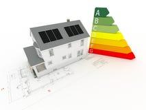 dom kasetonuje photovoltaic royalty ilustracja