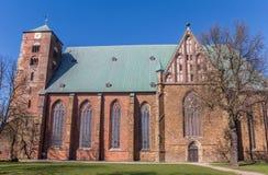 Dom kathedraal in het historische centrum van Verden royalty-vrije stock fotografie