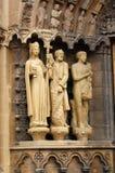 Dom Kathedraal, Trier. Beeldhouwwerken Stock Foto