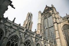 Dom kerk en toren in de Nederlandse stad van Utrecht Stock Fotografie