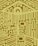 Dom klucza Geometryczny Abstrakcjonistyczny Brezentowy obraz Zdjęcia Stock