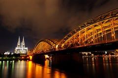Dom of Koln. And Rhine River, Germany Stock Photo