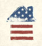 Dom kształtna flaga amerykańska. royalty ilustracja