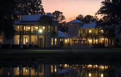 dom literatury zachód słońca, Zdjęcia Stock